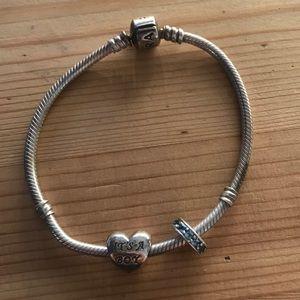 Pandora Jewelry - Pandora bracelet and two beads (boy)